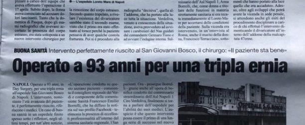 """Articolo pubblicato su """"IL ROMA"""""""